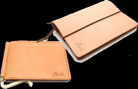 革の財布が2つ