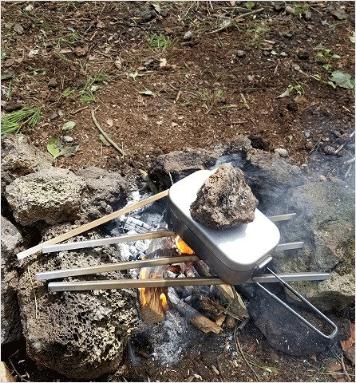 焚き火アングル2本 専用本革ケース付き