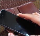 本革スマートフォンケース3